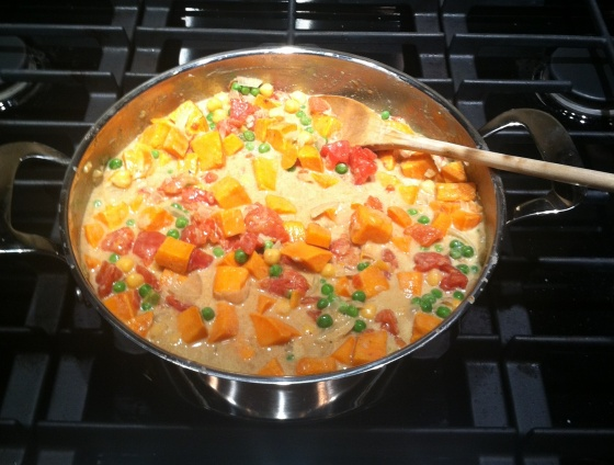 Chick Pea and Sweet Potato Curry - kalelovesquinoa